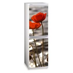 наклейки на холодильник цветы маки купить